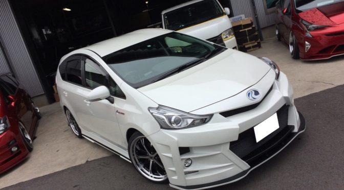 愛知県N様ご納車☆新車プリウスαS☆KUHLHYBRID40R-GT☆フルカスタムコンプリート